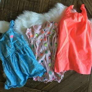 CARTER'S Bundle of Three Dresses/Romper